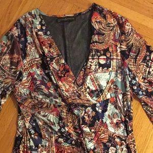 Peruvian Connection faux wrap dress Large